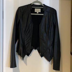 """Black """"Leather"""" Jacket"""